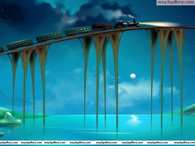 3d bridge train