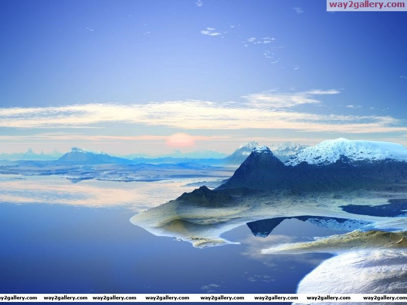 3d panoramic landscape