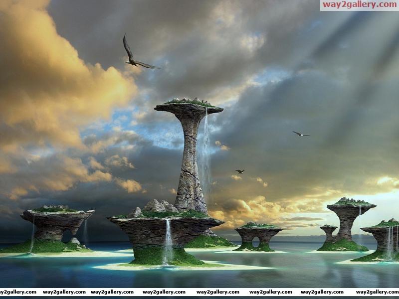 Windows 8 3d fantasy lake