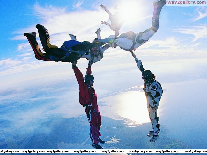 Amazing sky diving