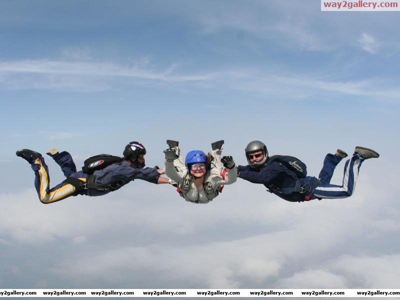 Cool sky dive
