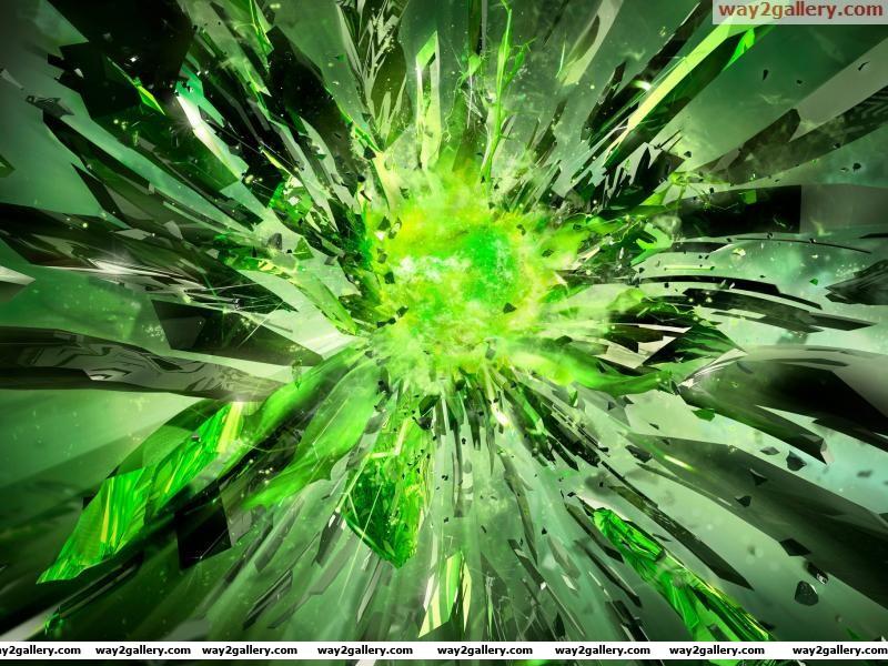Crystals broken power green nvidia
