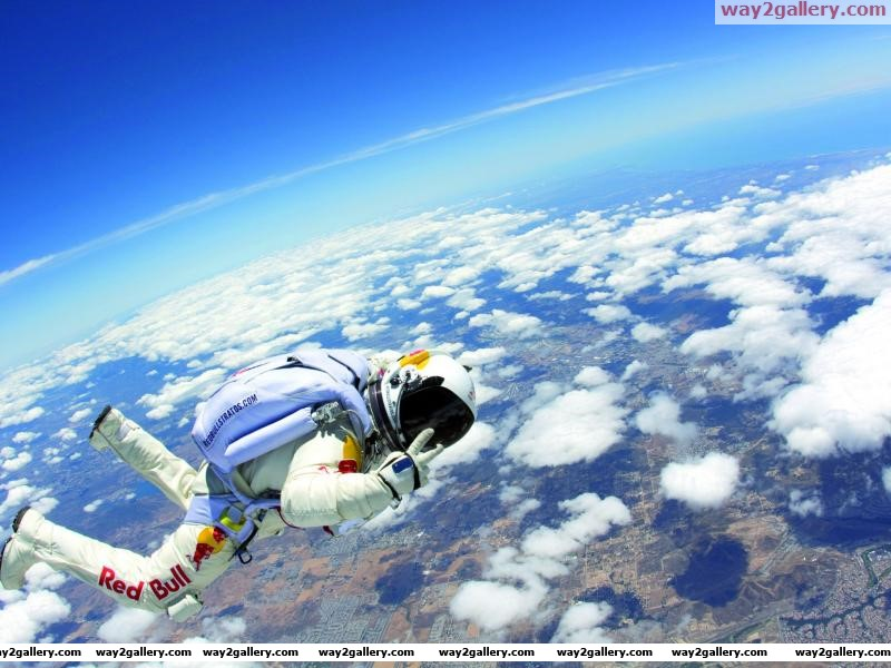 Red bull felix baumgartner earth top jump