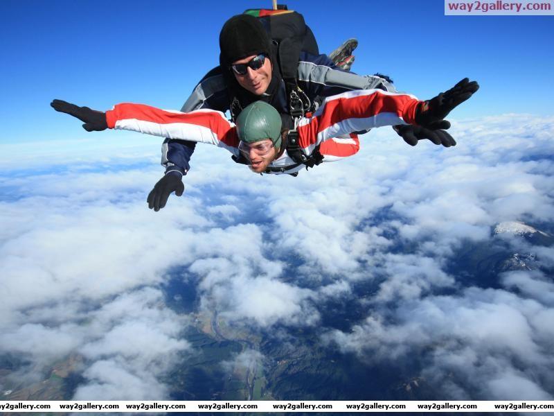Sky dive over abel tasman