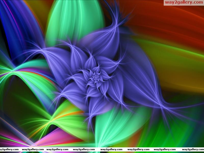 Wallpaper 3d flower graphics