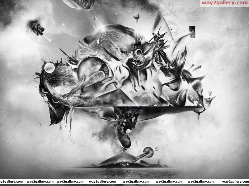 Wallpaper abstraction abstraction figure eyes lines drawing fantasy