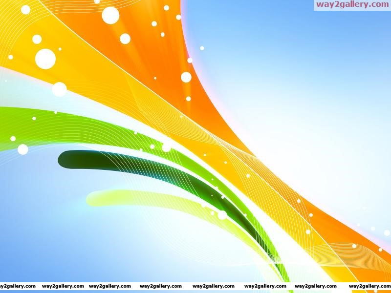 Wallpaper abstraction line background orange yellow green