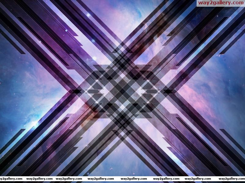 Wallpaper abstraction line cross space