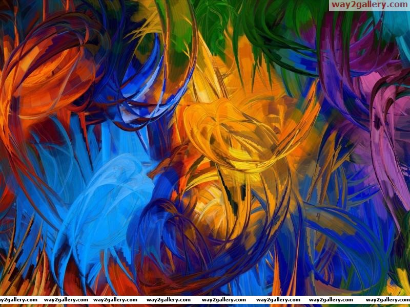 Wallpaper abstraction paint brush