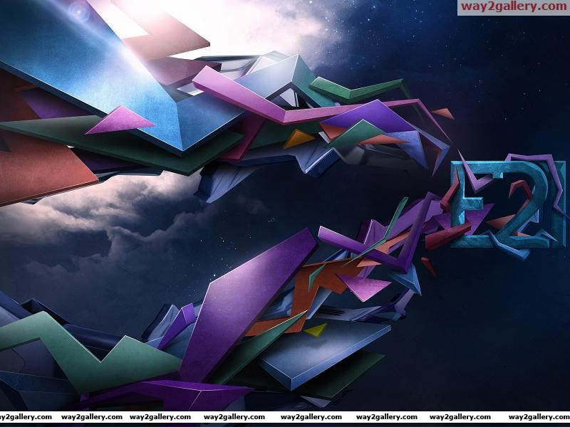 Wallpaper abstraction shapes geometry lines e21 sky