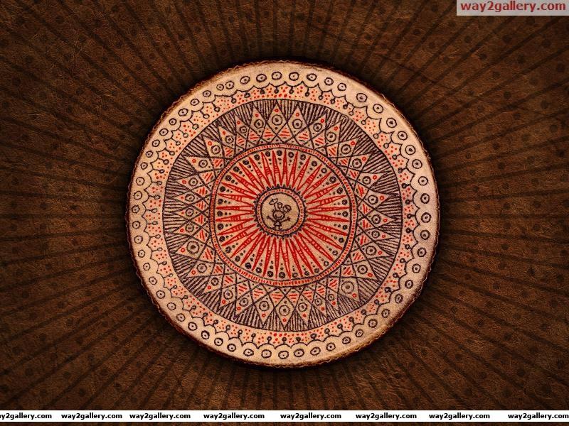 Wallpaper circle drawing man