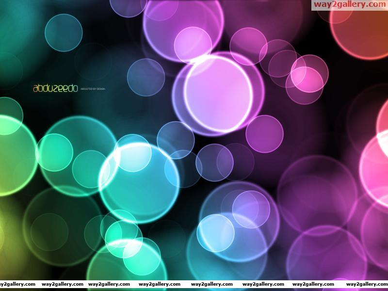Wallpaper color bubbles design