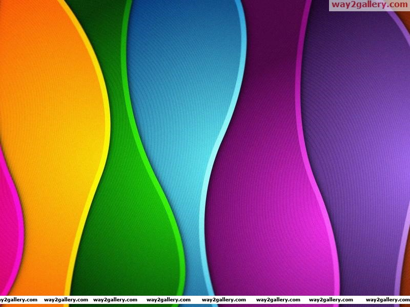 Wallpaper colors rainbow abstract waves