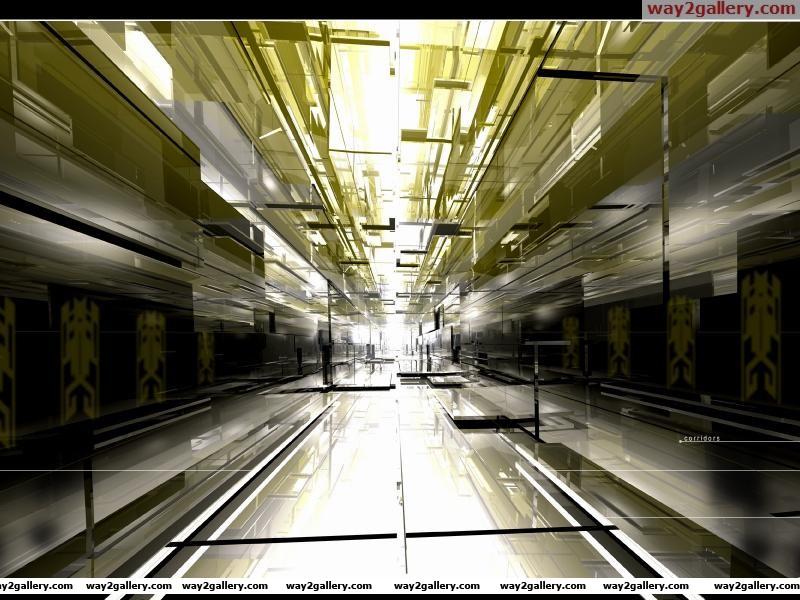 Wallpaper corridor the light schedule