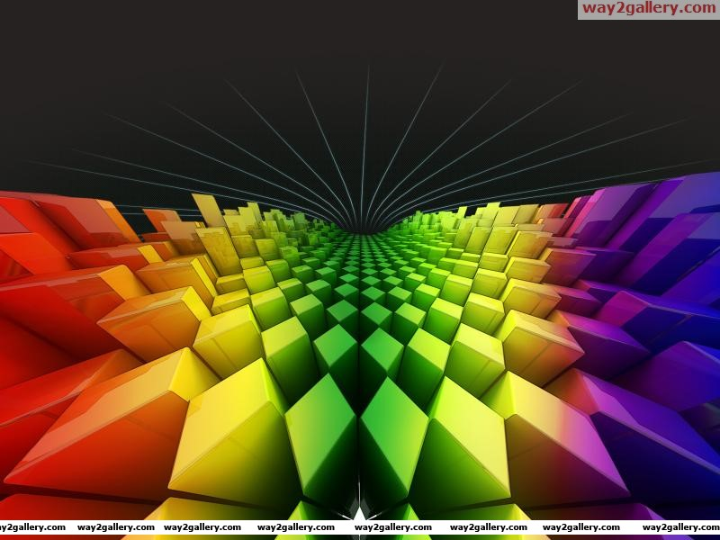 Wallpaper diamonds squares colors rainbow
