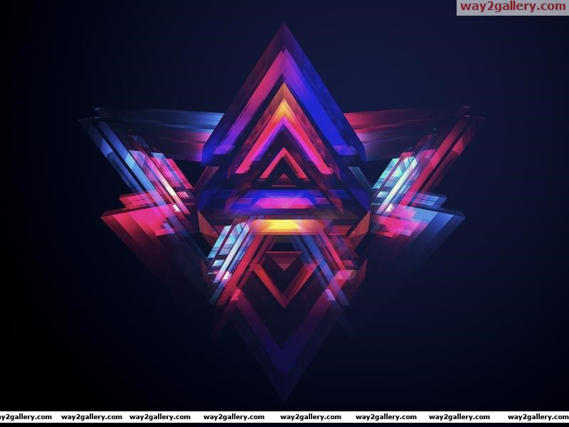 Wallpaper digital art abstraction triangles creativity abstraction