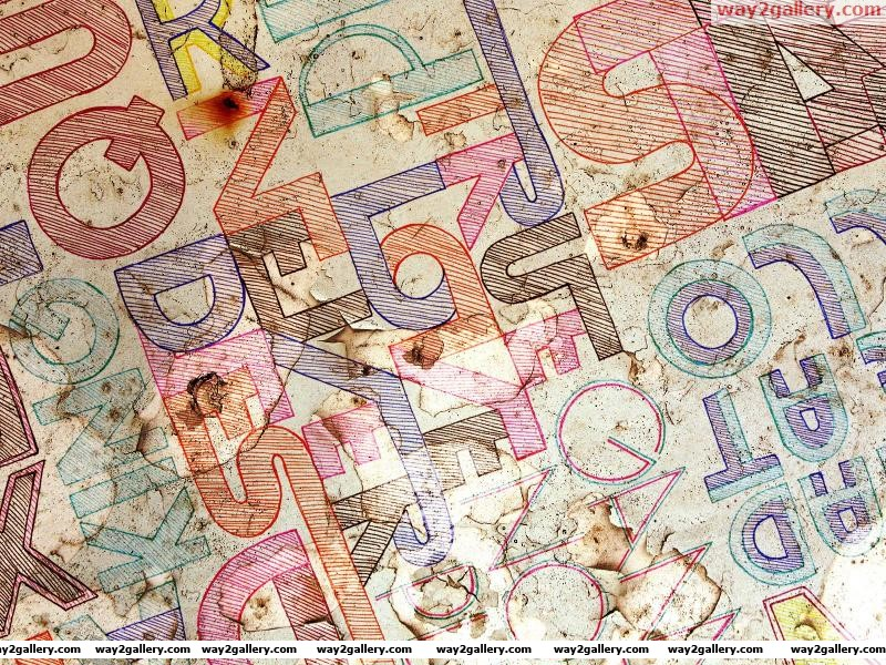Wallpaper fontastic letters inscriptions