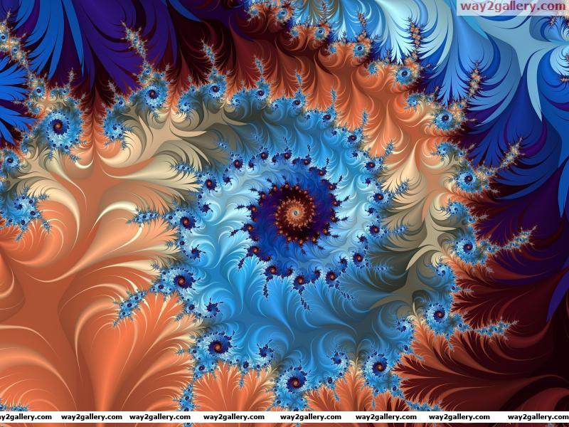Wallpaper fractals color