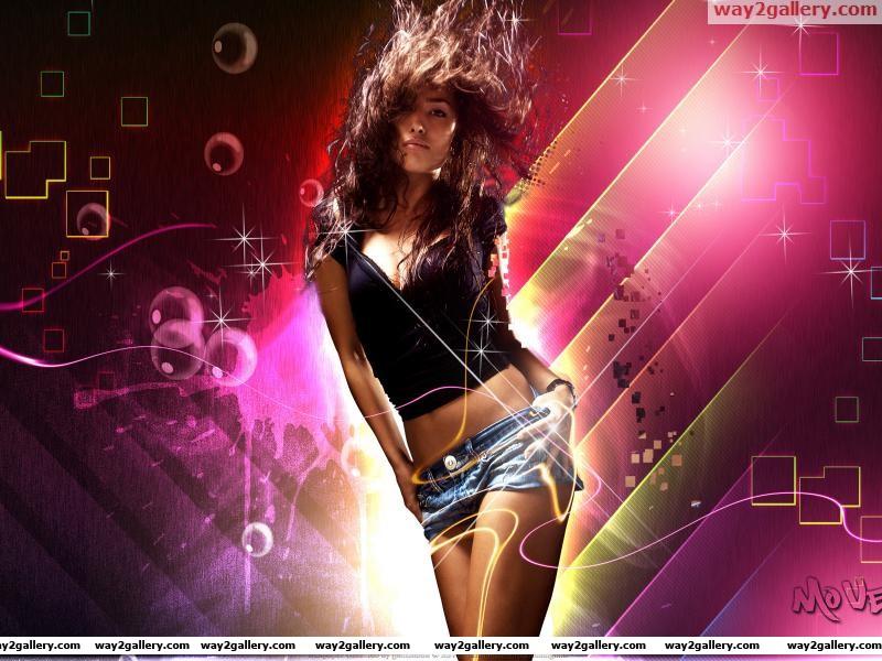 Wallpaper girl hair motion