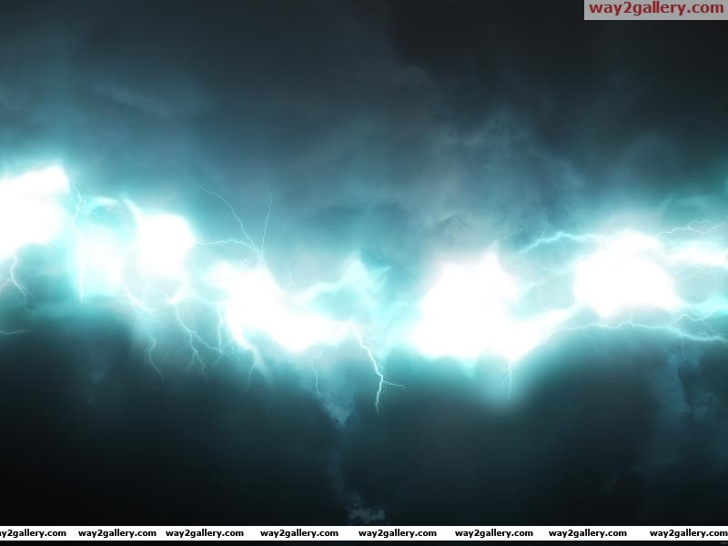Wallpaper glow lightning blue white