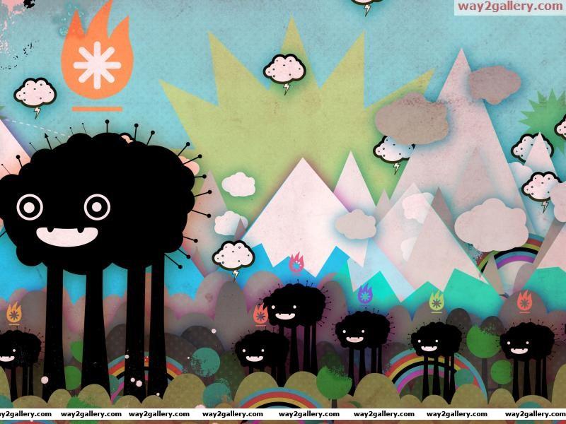 Beast grunge abstract