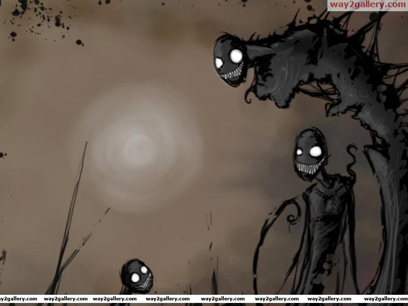 Dark creepy