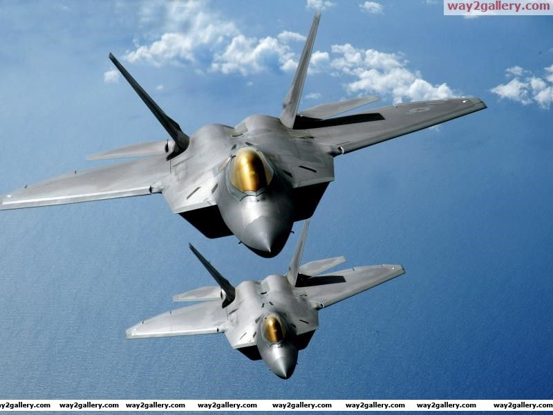 Aircrafttwo f 22 raptors