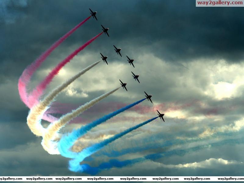 Colour the sky aerobatic air show aircraft colorful frecce tricolori italian air force