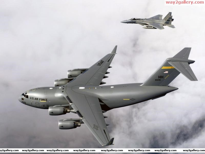 F 15b eagles c 17 globemaster iii