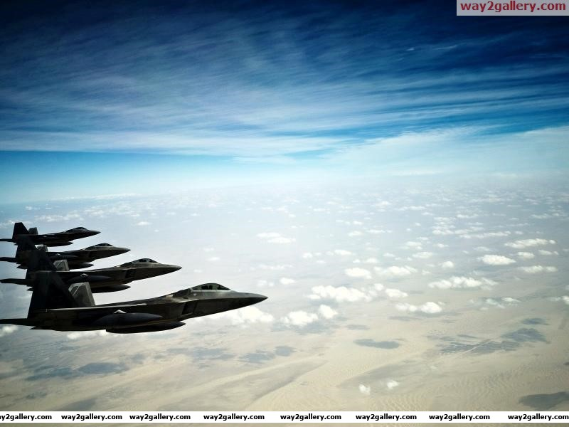 F 22 raptor stealth fighters aircraft