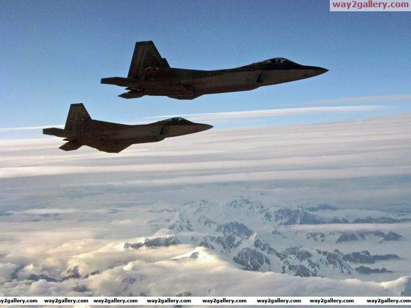 United states army two f 22a raptors alaska