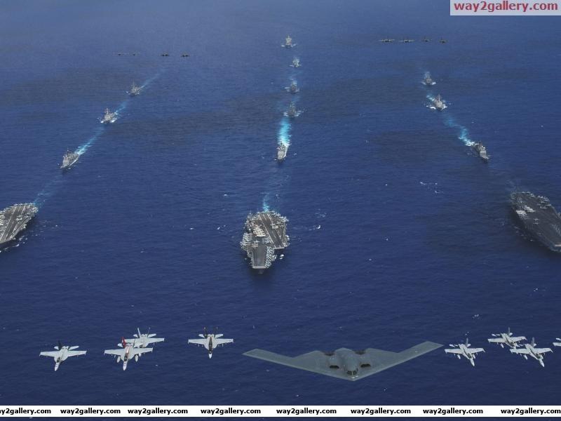 United states navy fighter jets b 2 spirit aircraft carrier strike groups philippine sea guam