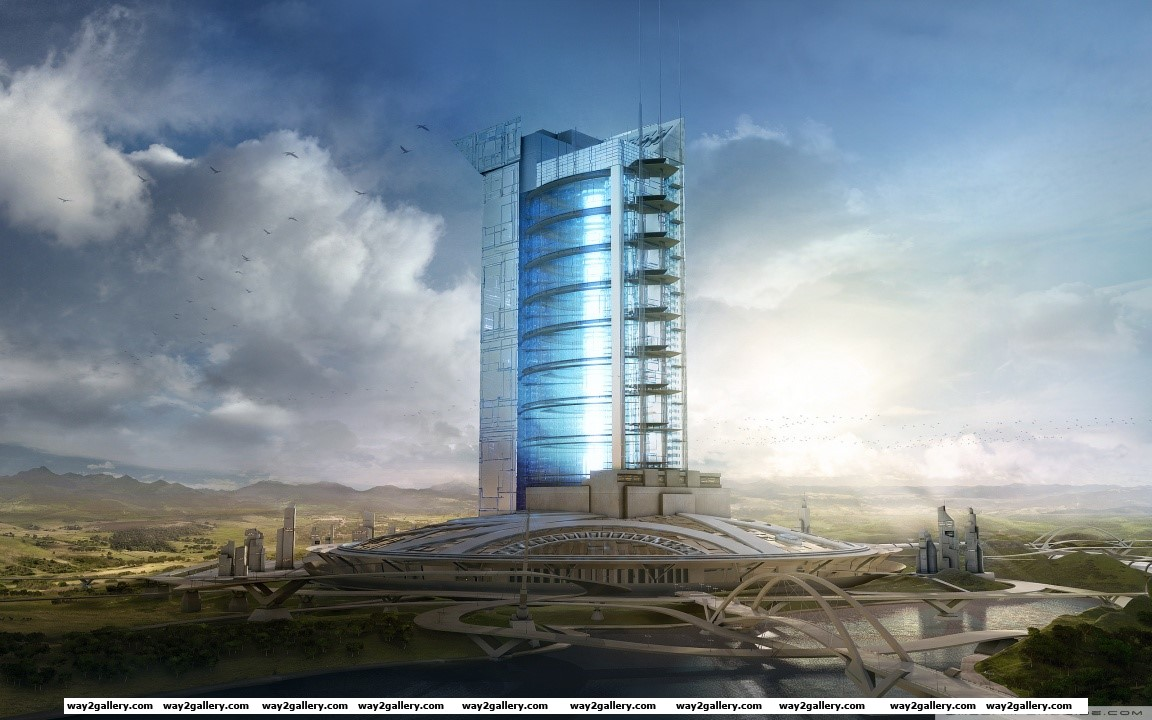 3d architecture project hd wide wallpaper