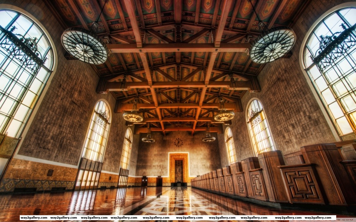 Across the floors of union station hd wide wallpaper