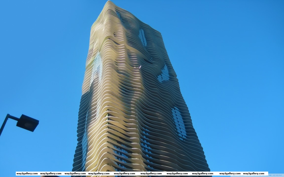 Aqua tower hd wide wallpaper