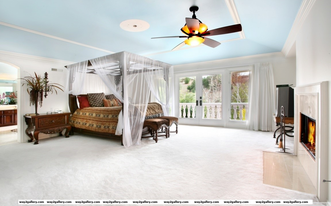 Blue ceiling hd wide wallpaper