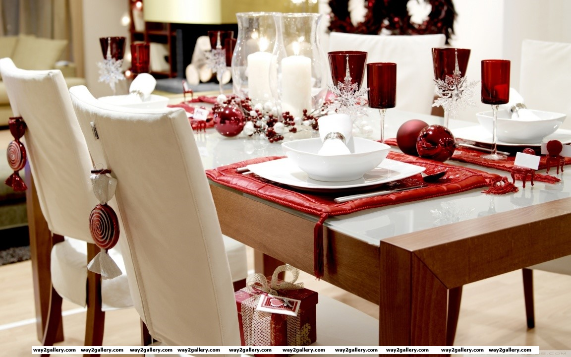 Dinner table hd wide wallpaper