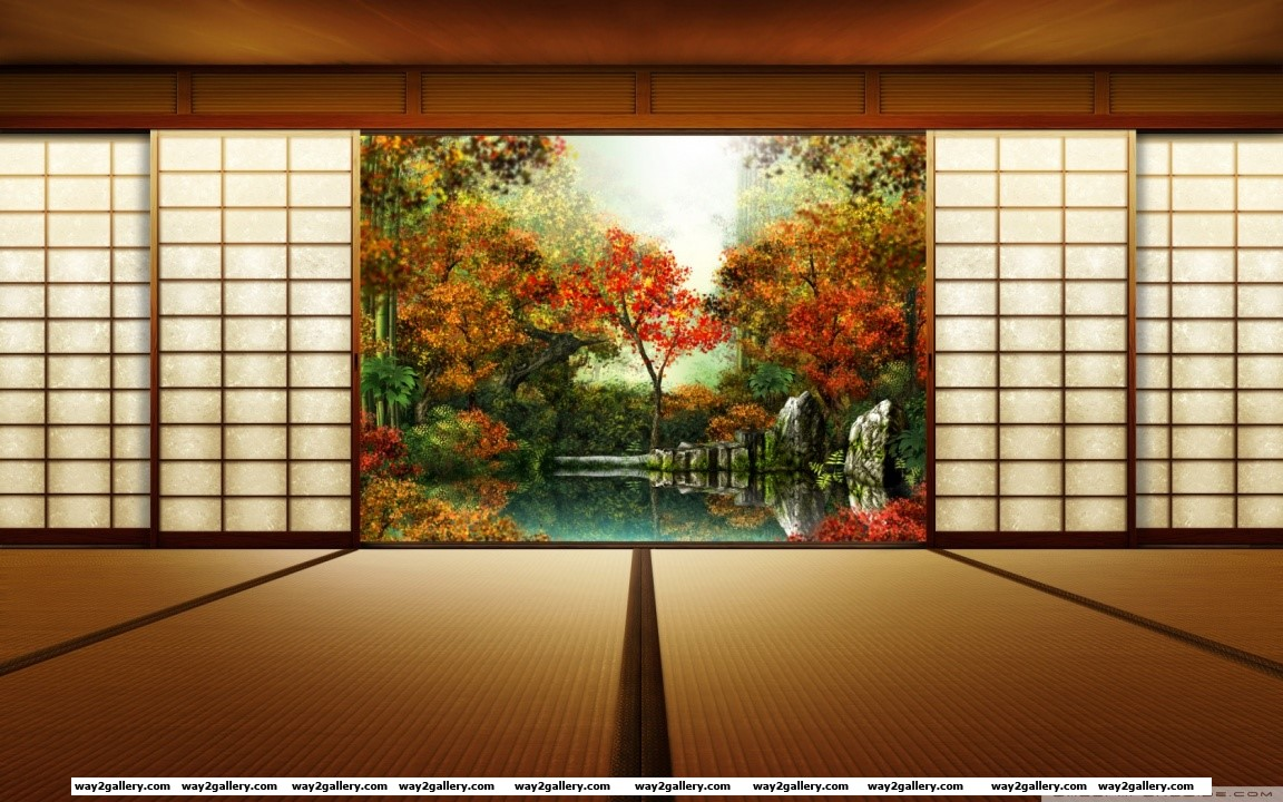 Japanese garden hd wide wallpaper