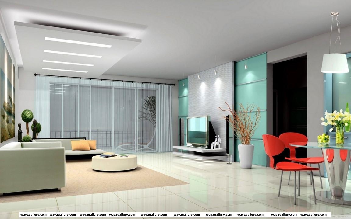 Living room 3d model hd wide wallpaper