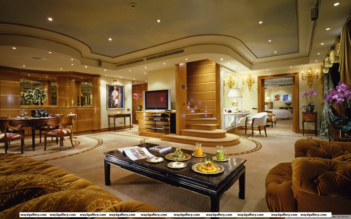 Luxury apartment living room hd wide wallpaper