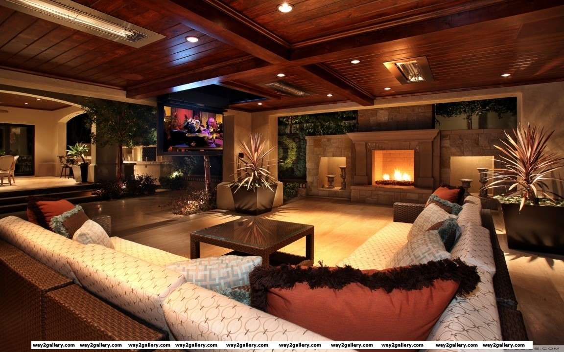 Luxury house interior hd wide wallpaper