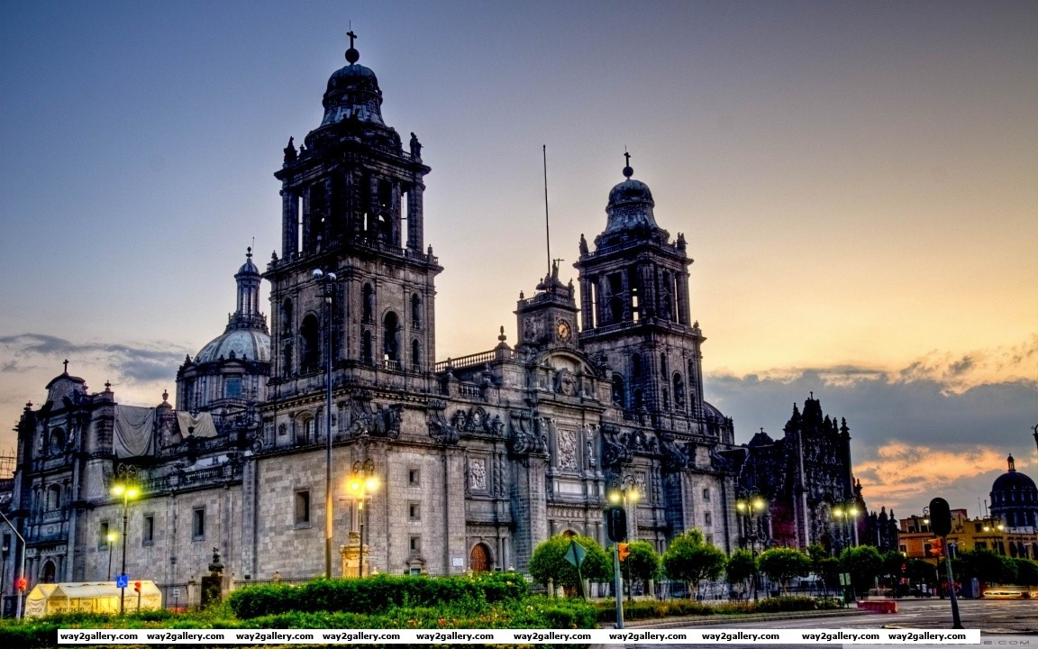 Mexico city cathedral hd wide wallpaper
