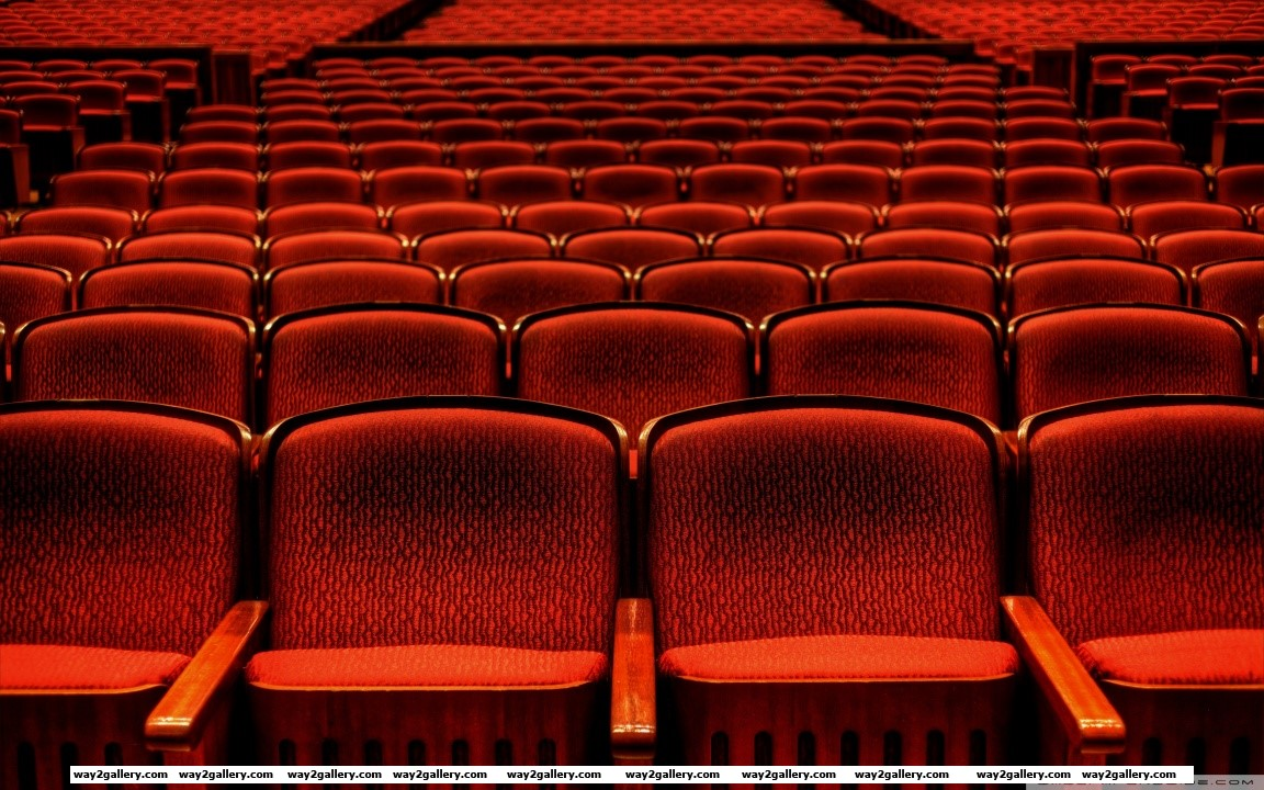 Red theater seats hd wide wallpaper