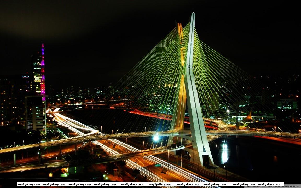 Sao paulo bridge hd wide wallpaper