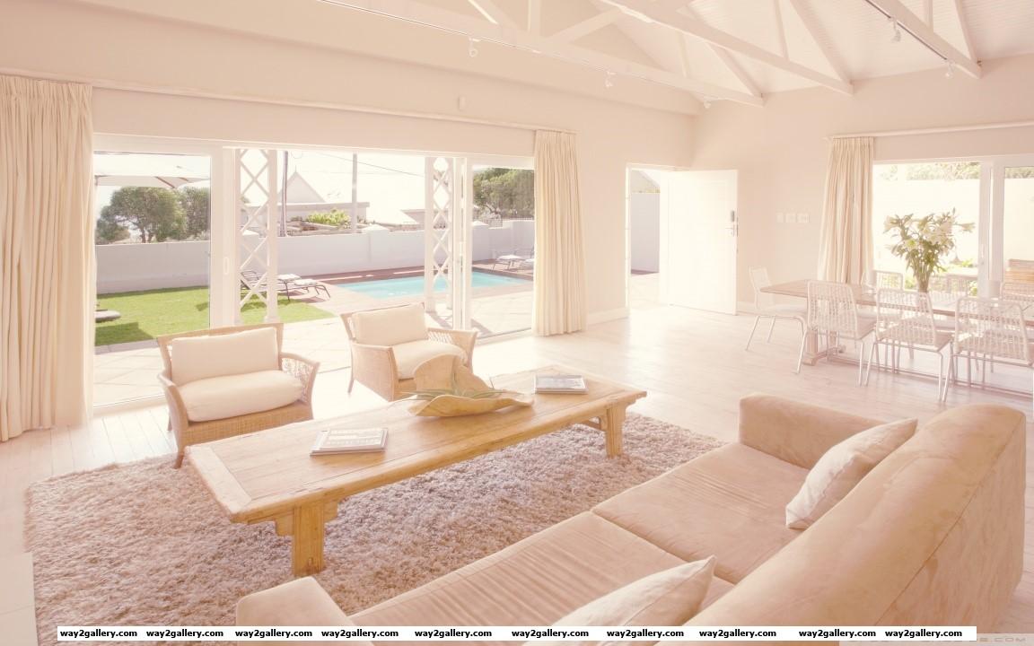 White living room hd wide wallpaper