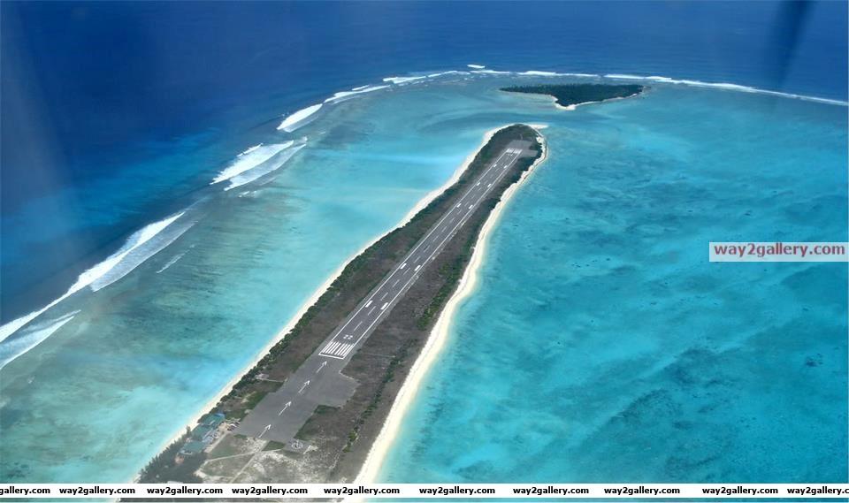 Agatti airport runway, lakshadweep, india