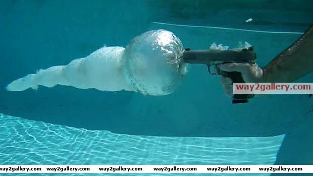 Bullet under water