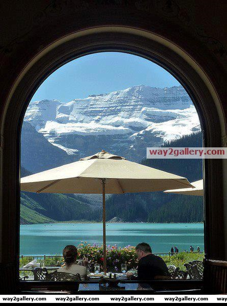 Great view at a restaurant in canada