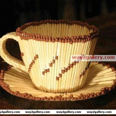 Match sticks cup...superb creativity