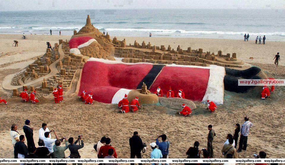 Nice sand art by sudarshan patnaik.. odissa